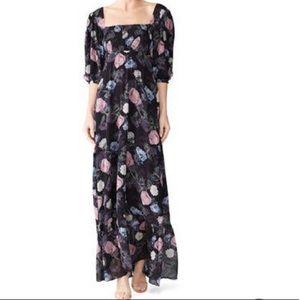 Nicholas floral square neck maxi dress K6